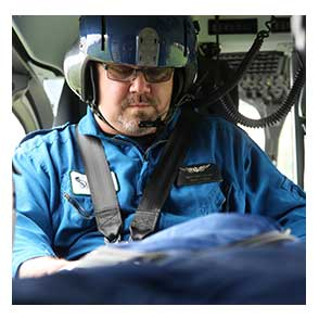 Paramedic in FlightCare Helicopter