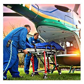 Paramedics moving into FlightCare Helicopter